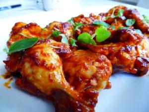 Spicy glutenfrie kyllingklubber.
