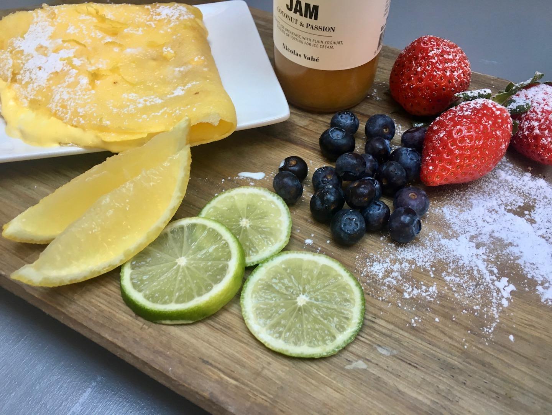 glutenfri crepe med sitronkrem