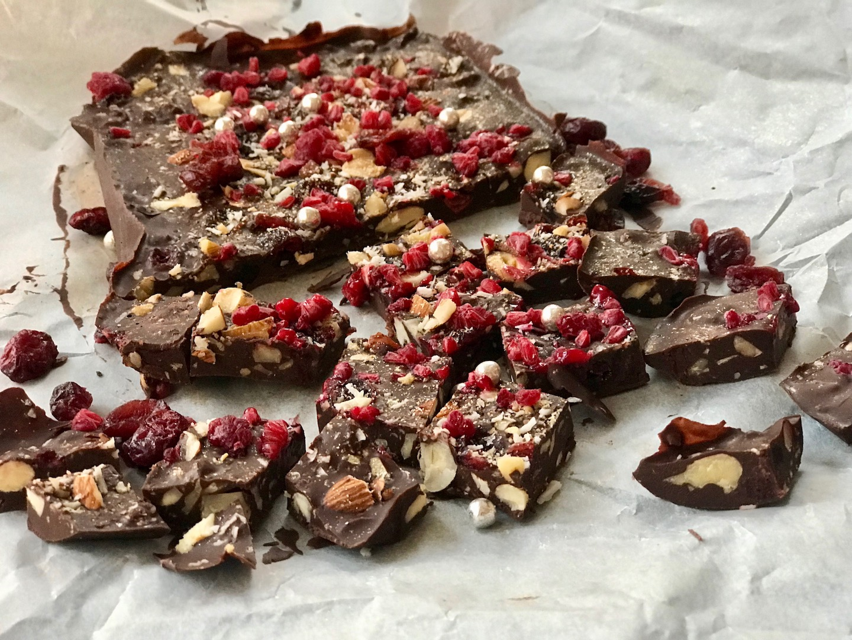 hjemmelaget glutenfri sjokolade