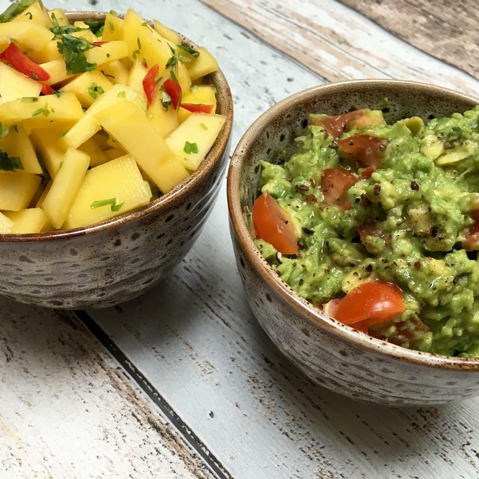 Guacamole/mangosalsa & tacosaus