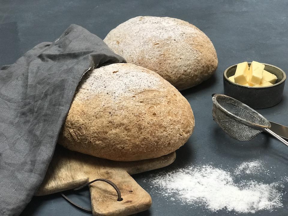 Glutenfritt fransk landbrød
