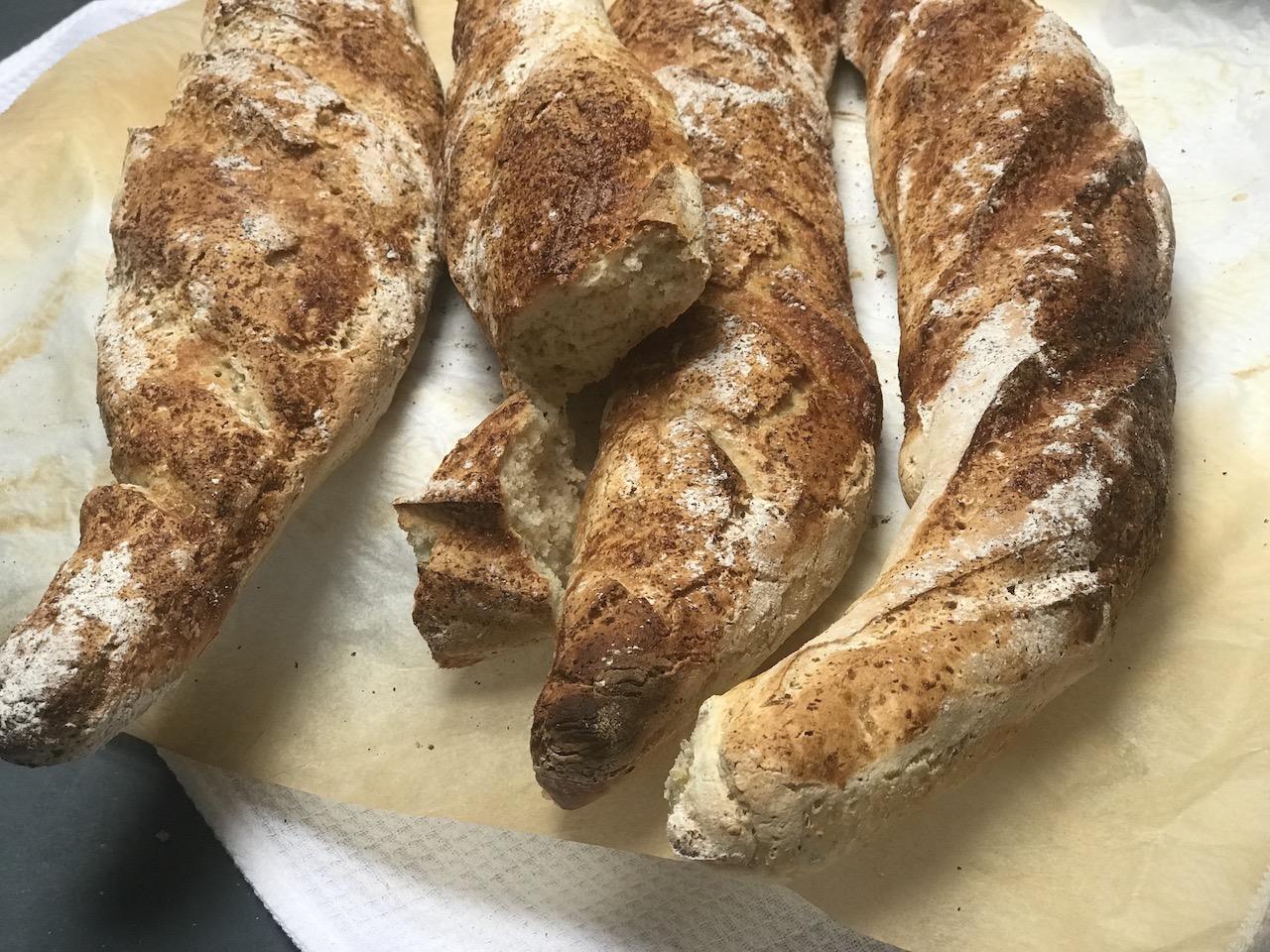 glutenfrie fransk baguette