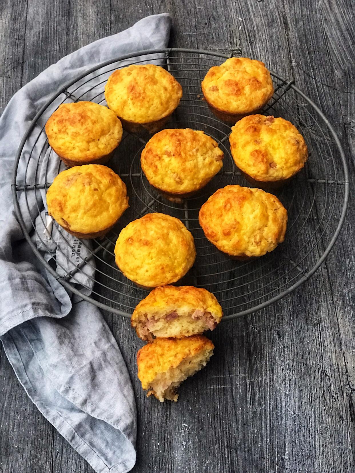 Glutenfrie scones med ost og skinke